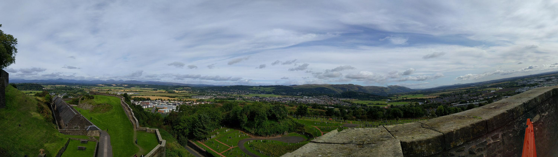 Blick von der Burg aus Richtung Norden